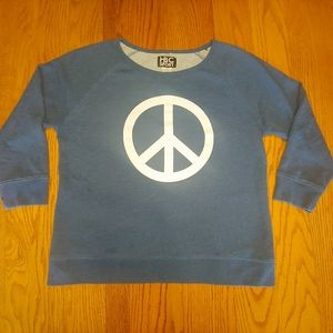 🖤HBC Sport Peace Sign Sweater LG